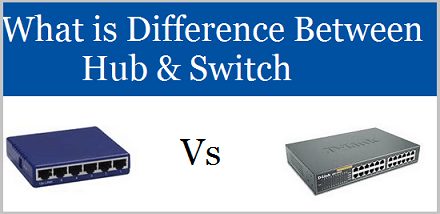 Difference between Hub and Switch