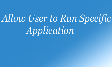 Allow User to Run