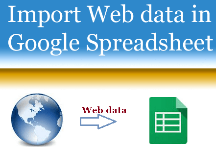 Import Web Data In Google Spreadsheet