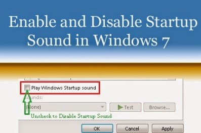 Enable and Disable Startup Sound in Windows 7