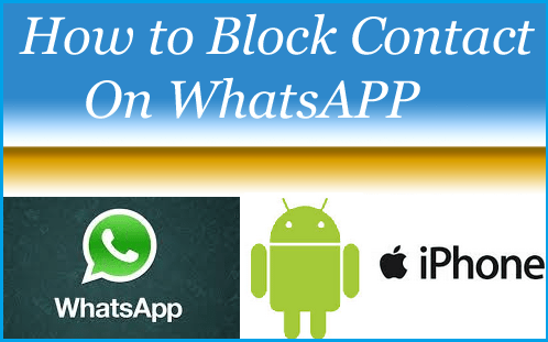 Block Contact On WhatsApp