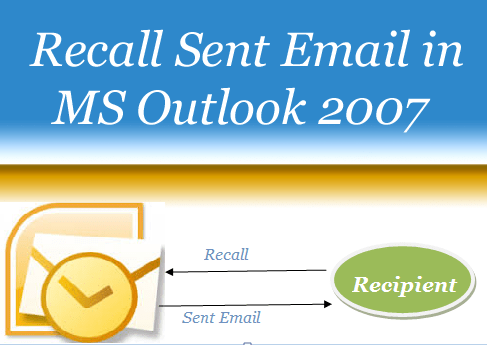 Recall Sent Email in MS Outllook 2007