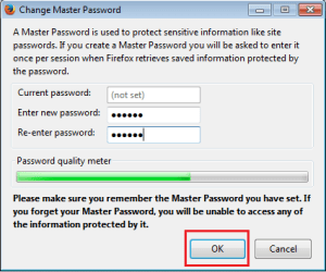 Set Startup Password In Mozilla Firefox