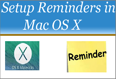 Setup Reminders in Mac OS X