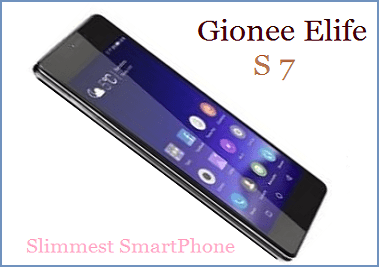 Gionee Launched Elife S7 Slimmest SmartPhone