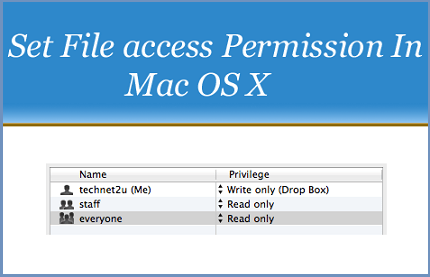 Set File Access Permission In Mac OS X