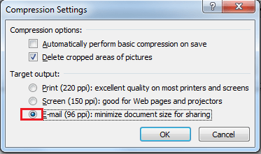 Reduce PowerPoint Presentation File Size