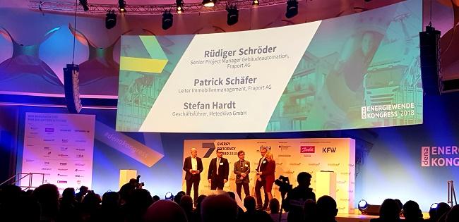 Die Gewinner des Energy Efficiency Award 2018 - Fraport, Aurubis, Smart Joules Foto: KR - Technewable.com