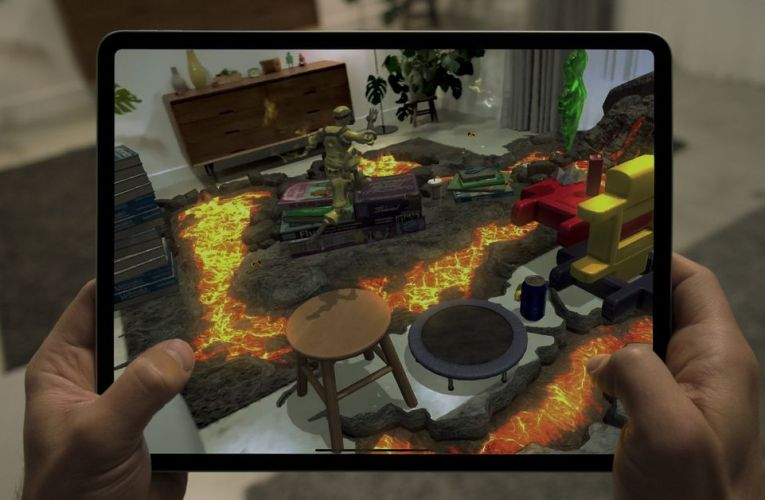 The new iPad Pro's LIDAR scanner can turn a living room into an AR game of Hot Lava