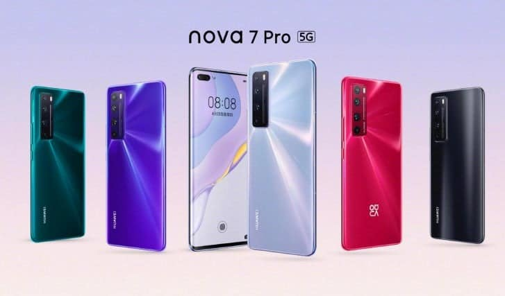 Huawei launches the Nova 7 series in China. The price starts at $ 340