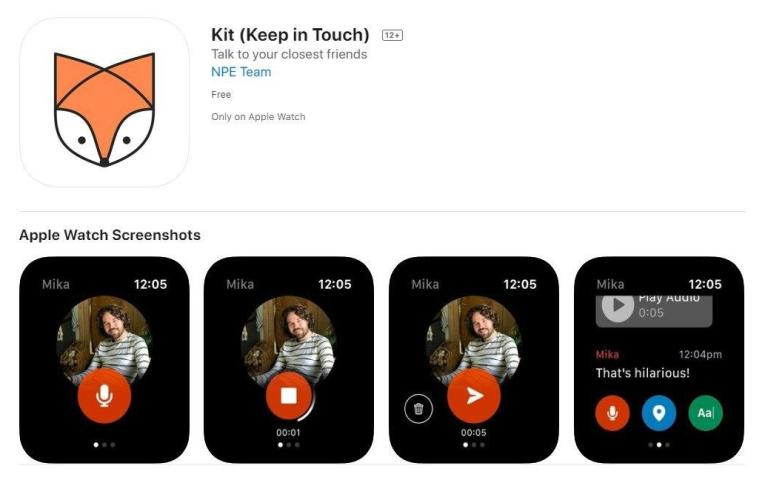 With Facebook's new kit app for Apple Watch, users can communicate with just a tap