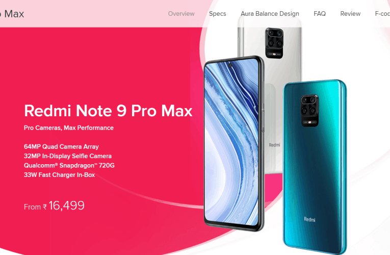 Redmi Note 9 Pro Max will go on sale in India on May 12
