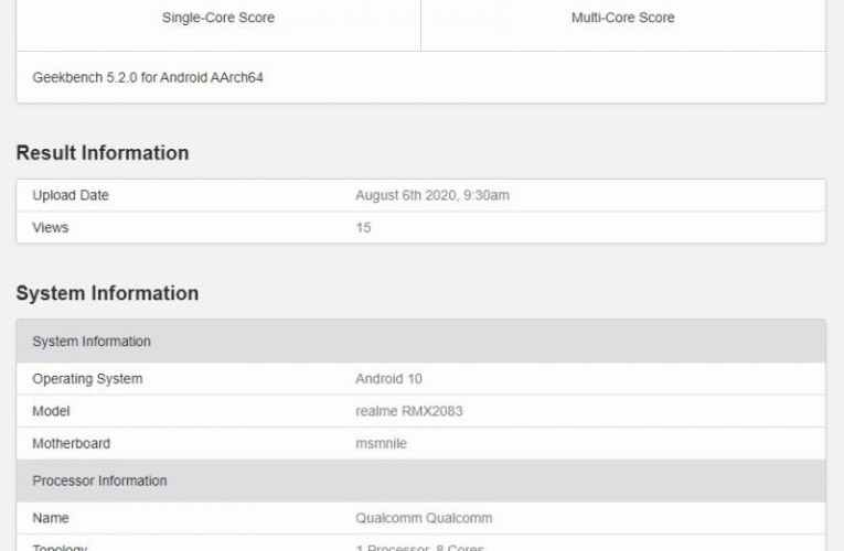 Realme X3 Pro passes Geekbench with Snapdragon 855+