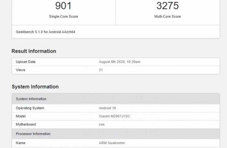 Xiaomi Mi 10 Ultra shows up on GeekBench before the official unveiling
