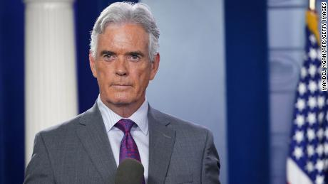 Fox chief White House correspondent John Roberts is seen before a briefing at the White House in 2018.