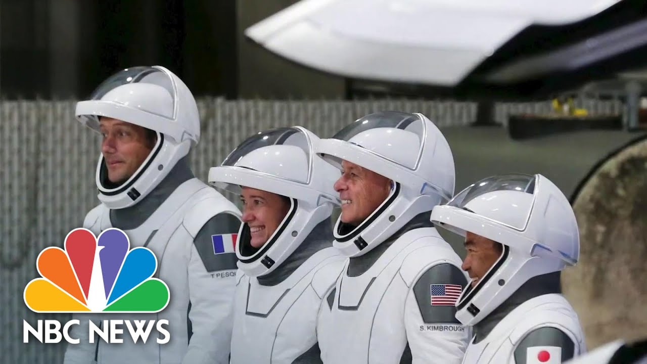Spacex Sends 4 Astronauts Into Space In Reused Rocket | NBC News NOW - NBC News