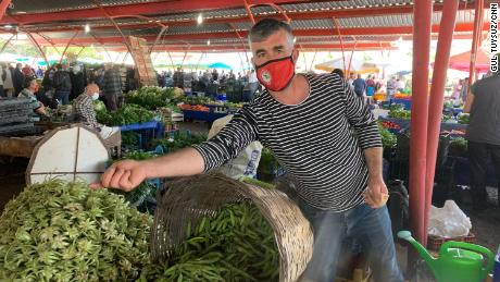 """Vegetable seller Hakan Keskin said, """"It's going to be hard days ahead for us."""""""