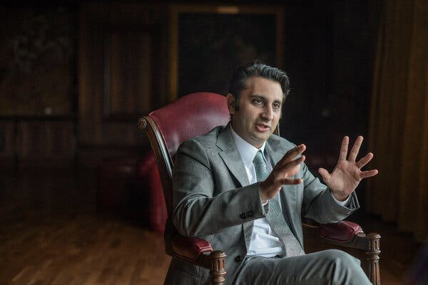 Adar Poonawalla, chief executive of the Serum Institute of India last year. He is in London and discussing manufacturing vaccines outside of India, which has led to backlash on social media.