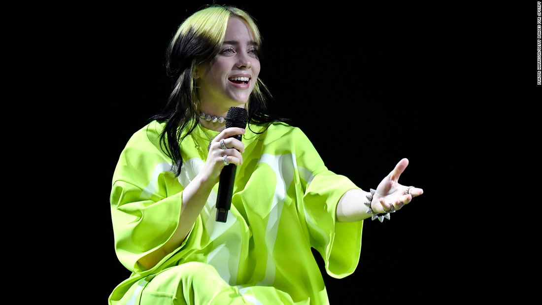 Billie Eilish shows off a new look on the cover of British Vogue