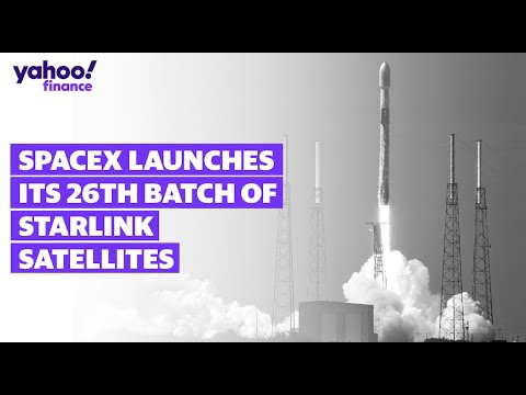 LIVE: SpaceX launches its 26th batch of Starlink satellites - Yahoo Finance