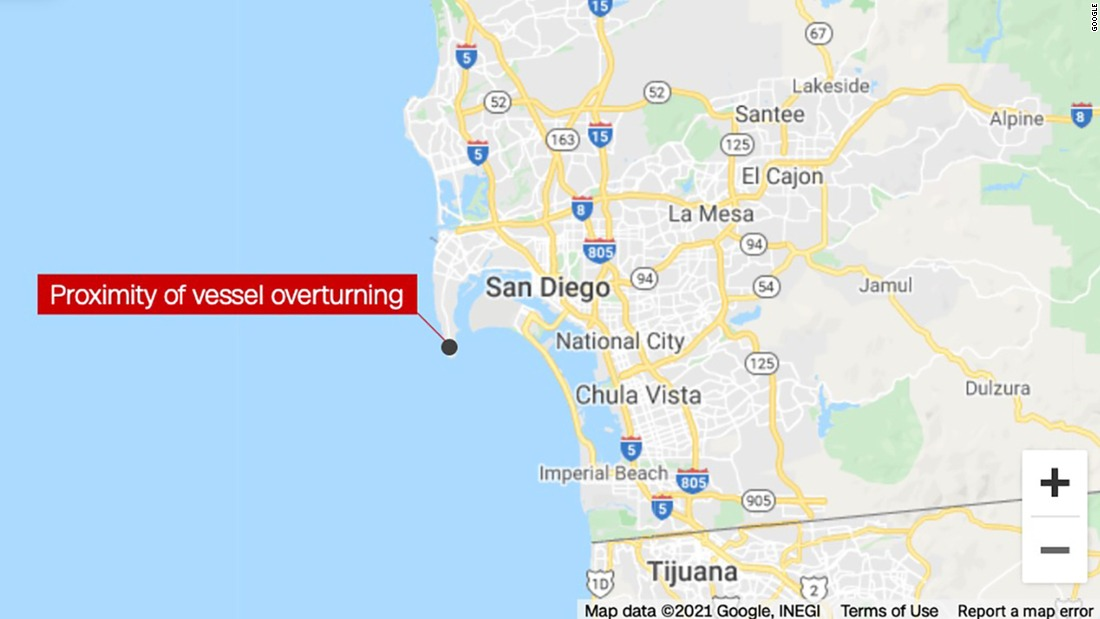 San Diego boat accident: 2 dead, more than 20 hospitalized after vessel overturns off San Diego coast