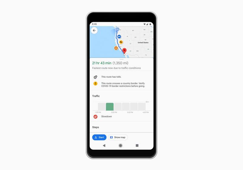 COVID-19 නිසා සංචරණයේදී ඇති වන ගැටළු අවම කිරීම සඳහා නව පහසුකම් රැසක් Google Maps වෙත එකතු කිරීමට Google සමාගම සූදානම් වෙයි