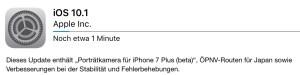 iOS 10.1.1 Update