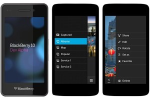A sample Blackberry 10 interface