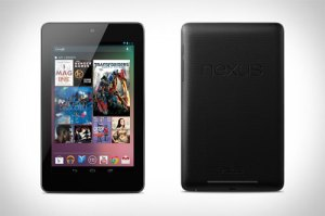 The Google Nexus 7 front and back