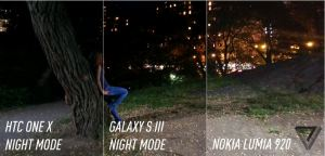 Low light tests done on the One x, Galaxy S3 and Lumia 920