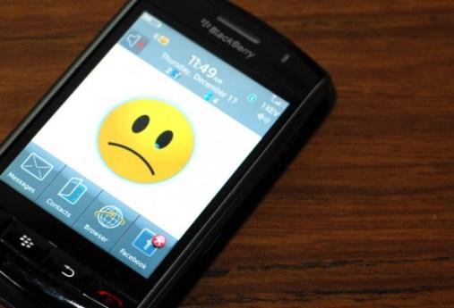 BlackBerry sales in US