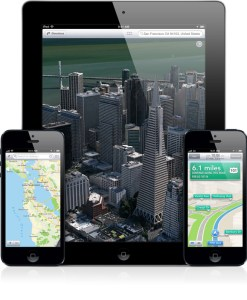 Apple Maps for iOS 6 across 3 devices