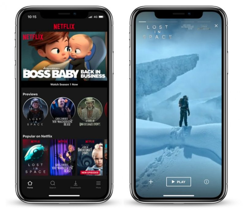 Netflix Just Launched 30 Second Video Previews For Mobile