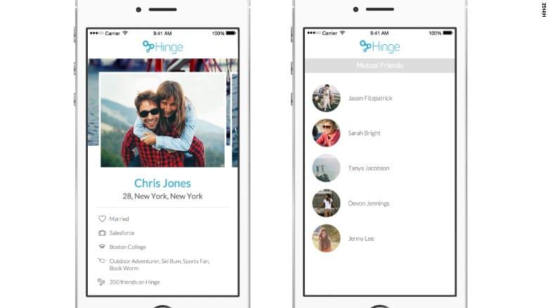 Facebook dating app hinge pin