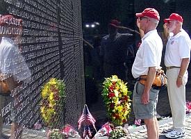 Memorial Day at the Vietnam Memorial in Washington, DC (A. Kotok)