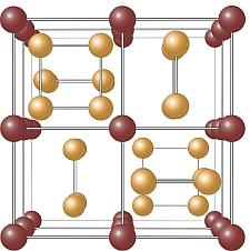 Skutterudite crystal structure (Oysteinp/Wikipedia)