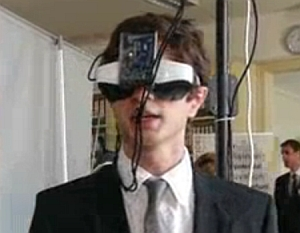 Headset used in virtual realty system (inreal Technologies GmbH)