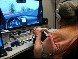 Driving simulator with haptic steering wheel (Carnegie Mellon University)
