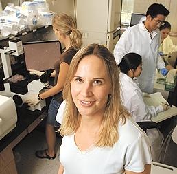 Sharon Gerecht in the lab (Johns Hopkins University)