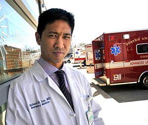 Emergency physician Michael Lee (Frank Mullin, Brown University)
