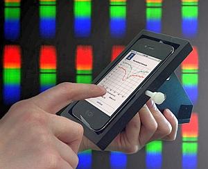 Biosensor smartphone and cradle (Brian Cunningham, University of Illinois)