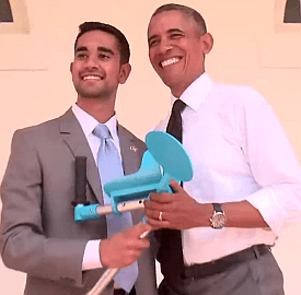 Partha Unnava and President Obama
