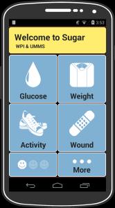 Sugar app screen