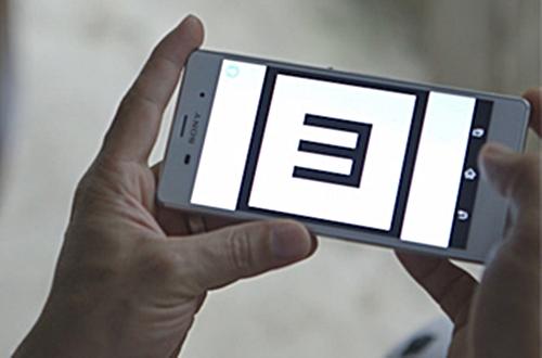 Visual acuity test on smartphone