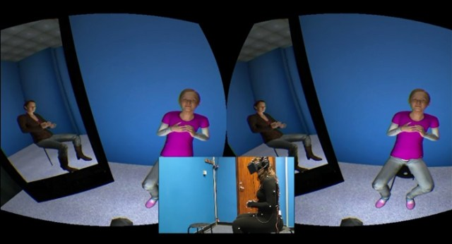 Scene from virtual reality exercise