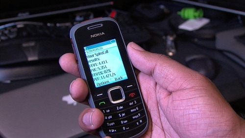 Cell phone with SpiroCall message