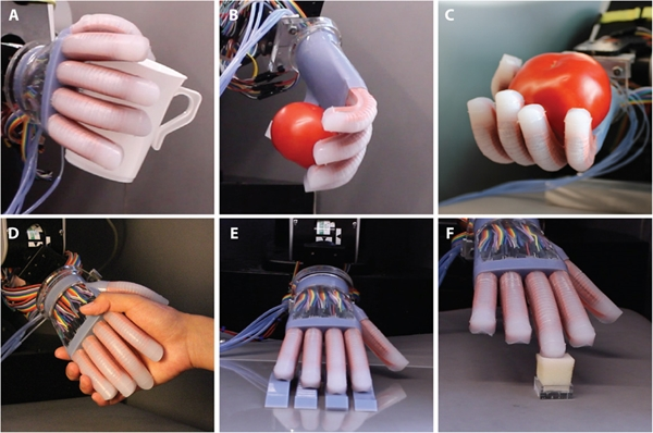 Capabilities of soft robotics hand