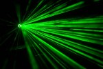 Green laser beams