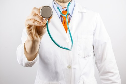 MD with stethoscope