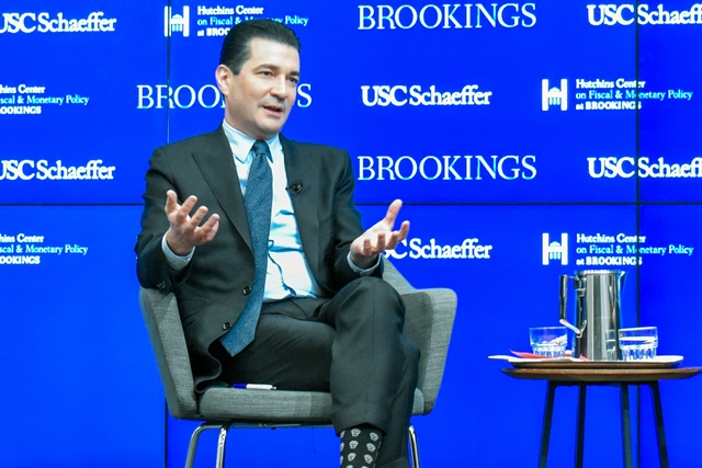 Scott Gottlieb at Brookings Institution